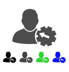 User integration gear flat icon vector