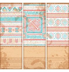 Vintage ethnic set of banners vector