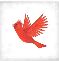 Winter christmas flying bird vector