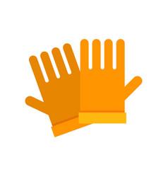 yellow garden gloves vector image vector image