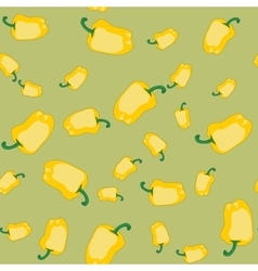 Yellow pepper seamless texture 565 vector image