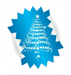 Christmas tree sticker vector