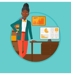 Woman giving business presentation vector