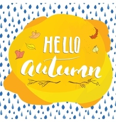 Autumn season lettering hand drawn vector