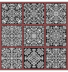 Square monochrome decorative tiles set vector