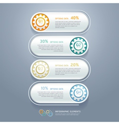 Business gears infographics numbers template vector