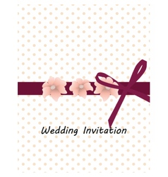 Traditional vintage Invitation card vector image