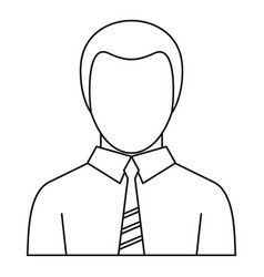 office man avatar icon outline style vector image