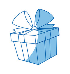 Gift box icon christmas present wrapped with a vector