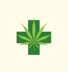 Color cannabis marijuana vector