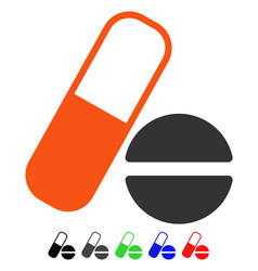 medication flat icon vector image