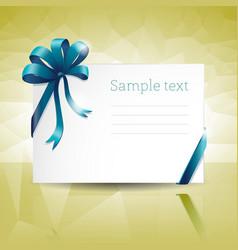 Blank gift card vector