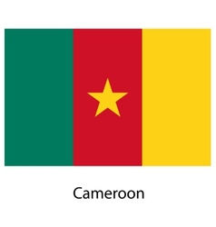 Flag of the country cameroon vector