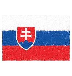 Hand drawn of flag of slovakia vector