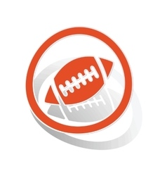 Rugby sign sticker orange vector
