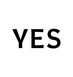 Yes sign in speech vector