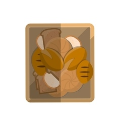 Bread fresh bakery vector