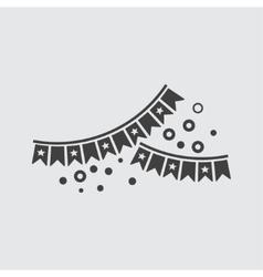 Bunting icon vector image