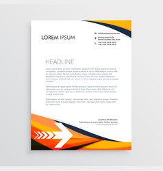 business letterhead creative design in orange vector image vector image