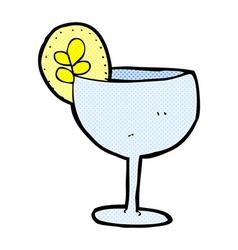 comic cartoon cocktail vector image
