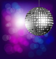 Disco ball on bokeh background vector