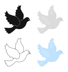 Dove icon of for web and vector