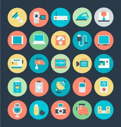 Electronics icons 3 vector
