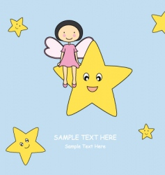 fairy star vector image vector image