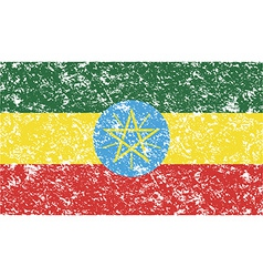 Flag of Ethiopia with old texture vector image