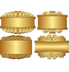 golden banner vector image vector image