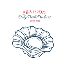 Hand drawn scallops icon vector