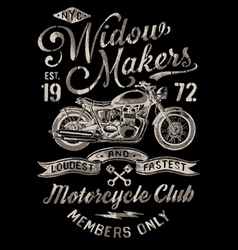 Hand Painted Vintage Motorcycle Graphic vector image vector image