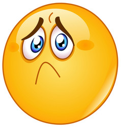 hurt and sad emoticon vector image
