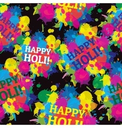 Indian festival seamless pattern colors splash vector image vector image