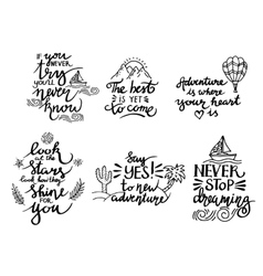 lettering positive quotes vector image