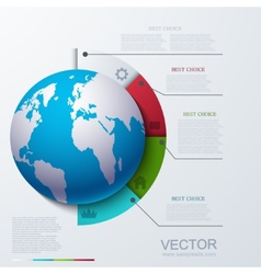 modern busainess infographic vector image vector image