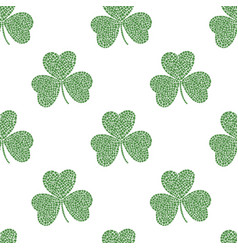 mosaic clover pattern vector image