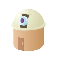 Observatory station icon cartoon style vector image vector image