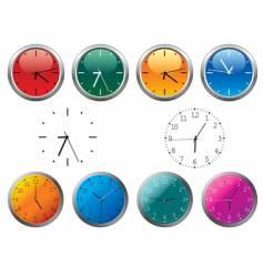 office clocks vector image