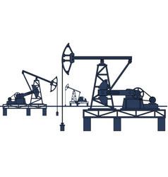 Oil pumpjack refinery vector