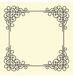 Old vintage frame vector