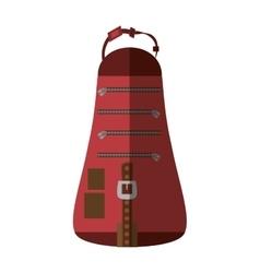 Packback travel bag tourist shadow vector