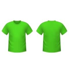 Realistic green t-shirt vector