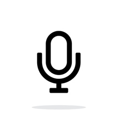 Retro microphone icon on white background vector image vector image