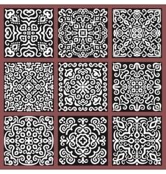 Square monochrome decorative tiles set vector