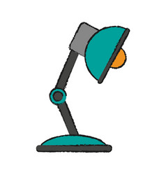 Study light lamp vector