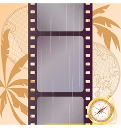 travel film strip vector image vector image