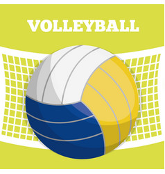 Volleyball sport desig vector
