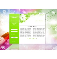 website business template vector image