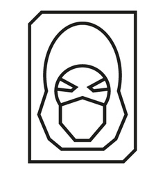Hacker avatar web internet icons vector